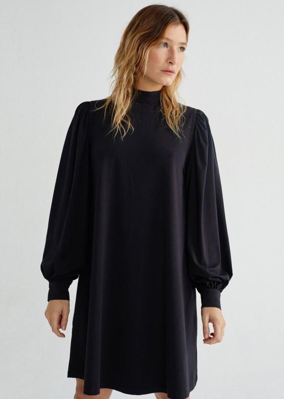Thinking Mu Black Flora Dress