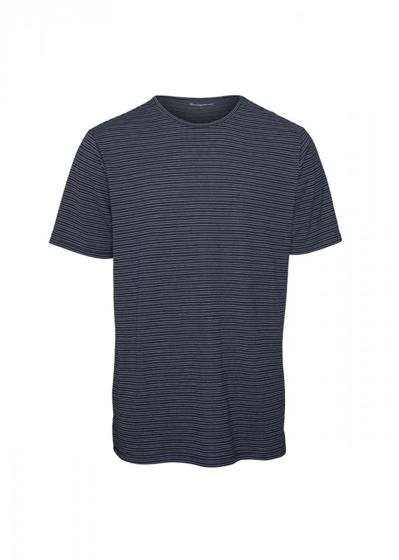 Knowledge Cotton Apparel Shirt Streifen navy-weiß