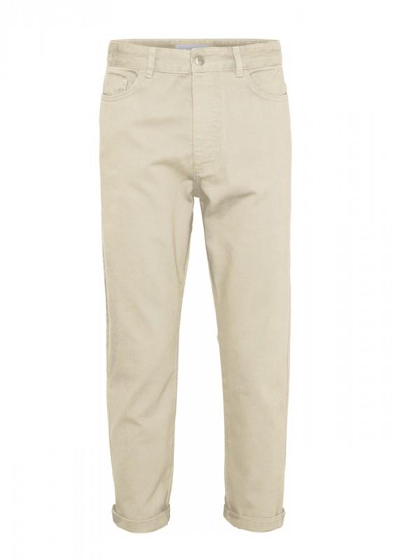 Knowledge Cotton Apparel - BOB loose heavy twill pant, winter white