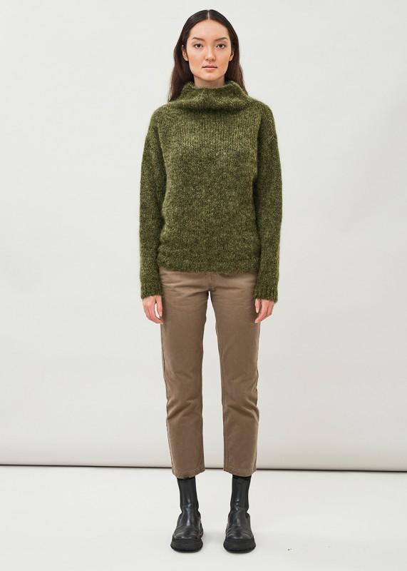 EIRA- High neck silk mohair sweater