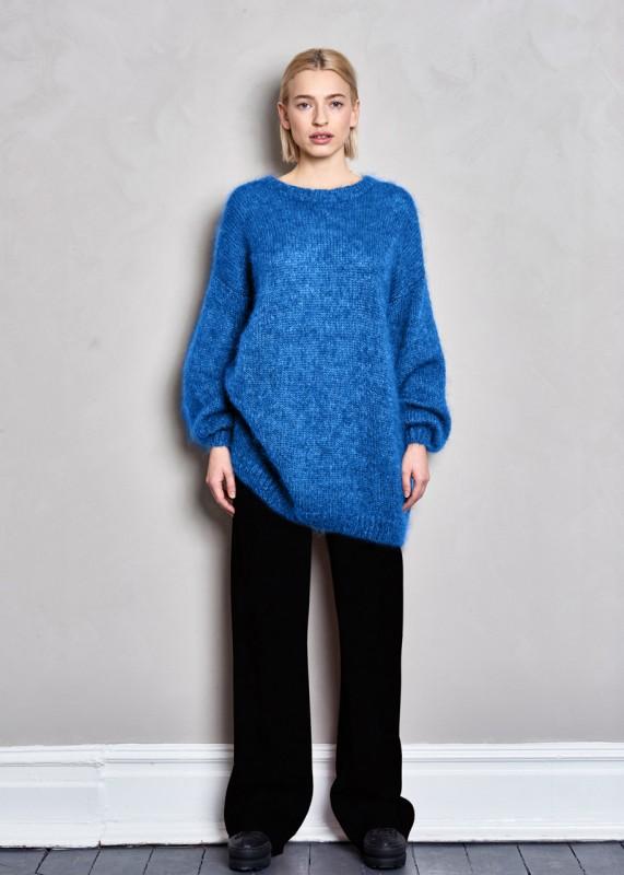PAN - Oversize Pullover aus Kid Mohair & Seide, opal