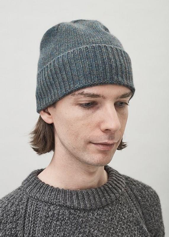 Maska - RU, Mütze aus Kaschmir, green slate