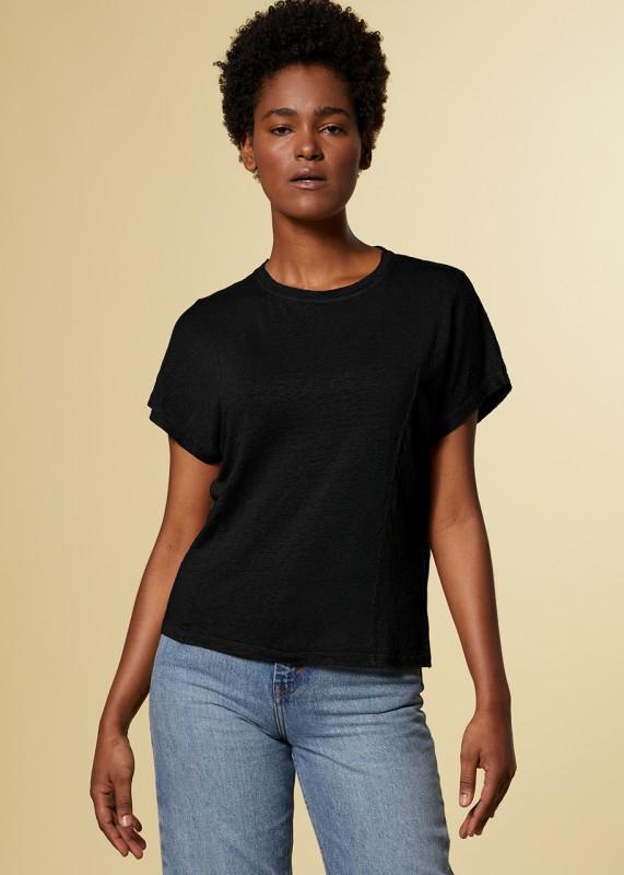 BREEZE T-SHIRT LEINEN black