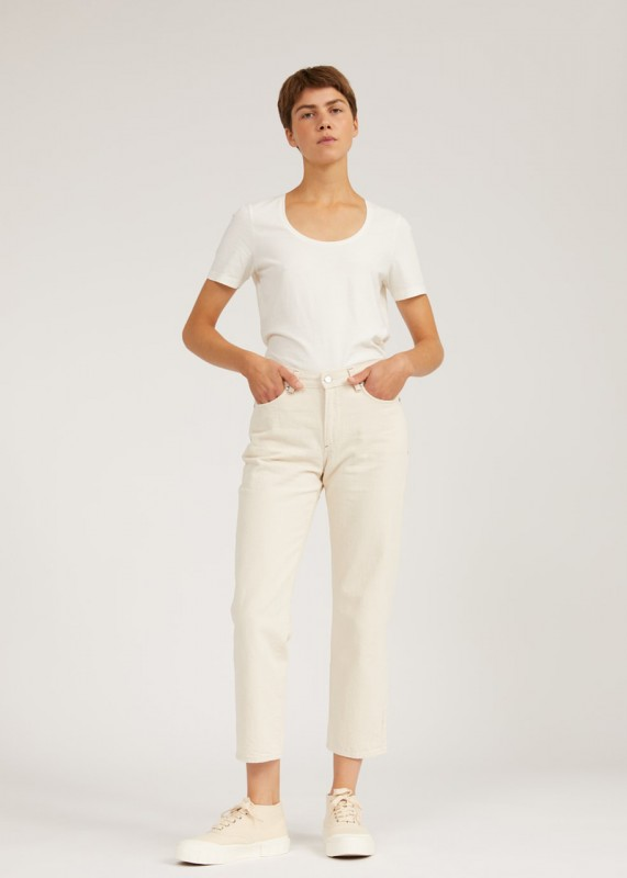 FJELLAA CROPPED Jeans aus Biobaumwolle, straight fit undyed