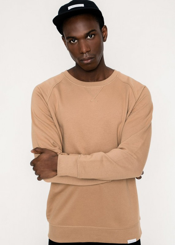 Rotholz Basic Crewneck Sweatshirt karamell