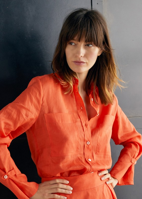 Annette Rufeger Ramie-Bluse orange