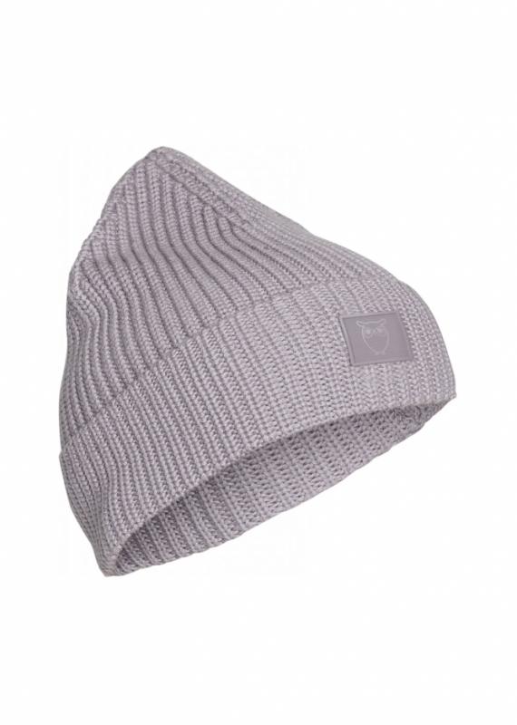 Knowledge Cotton Apparel - Mütze LEAF, minimal grey
