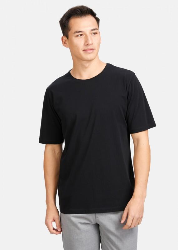 ICONIC T-Shirt Basic aus Tencel und Baumwolle, schwarz