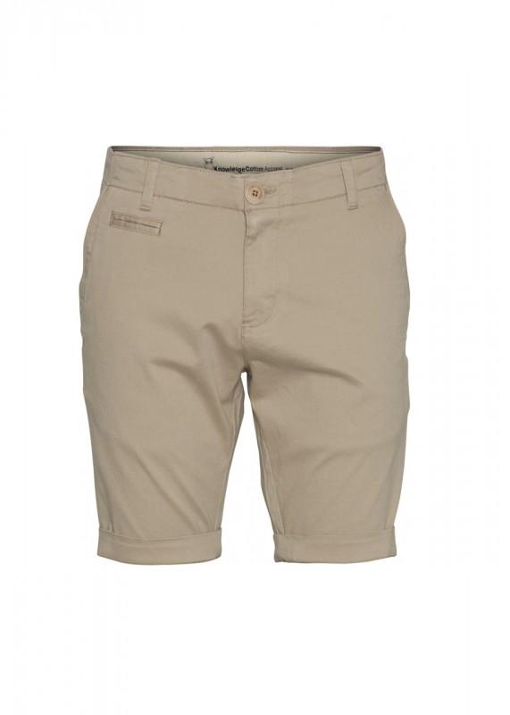 Knowledge Cotton Apparel Shorts CHUCK creme