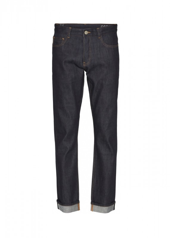 Knowledge Cotton Apparel Oak Selvedge Denim raw blue