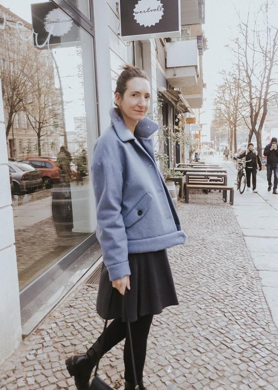 Annette Rufeger - Kurze weite Jacke aus Schurwolle