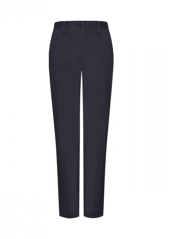 High Waist Hose aus Baumwolle, blau schwarz