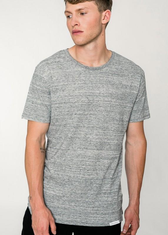 Rotholz Basic T-Shirt grau meliert