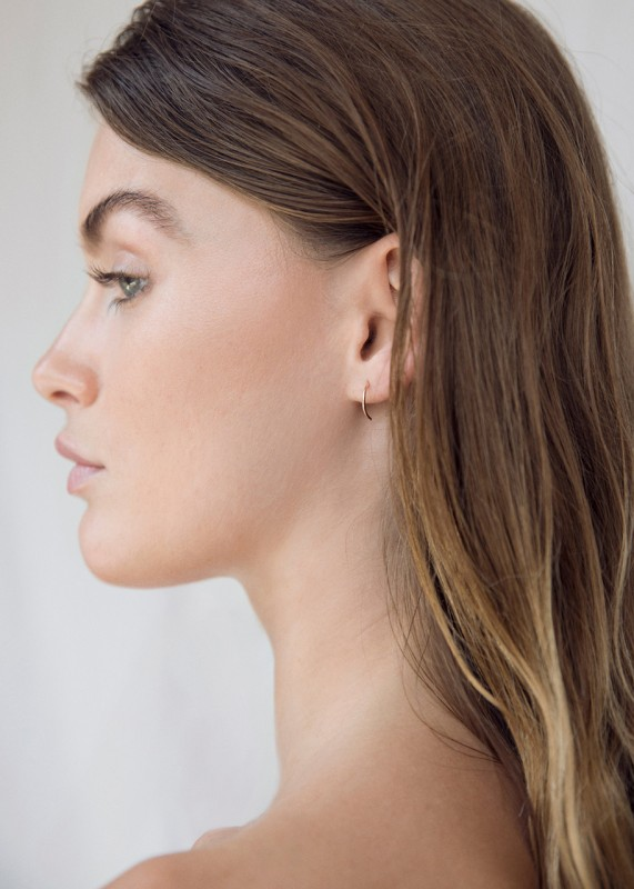 Wild Fawn Half Hoops rose gold