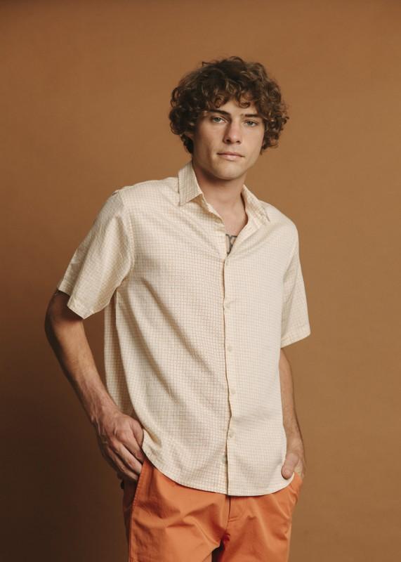 THINKING MU Cuadros Tom Shirt sand