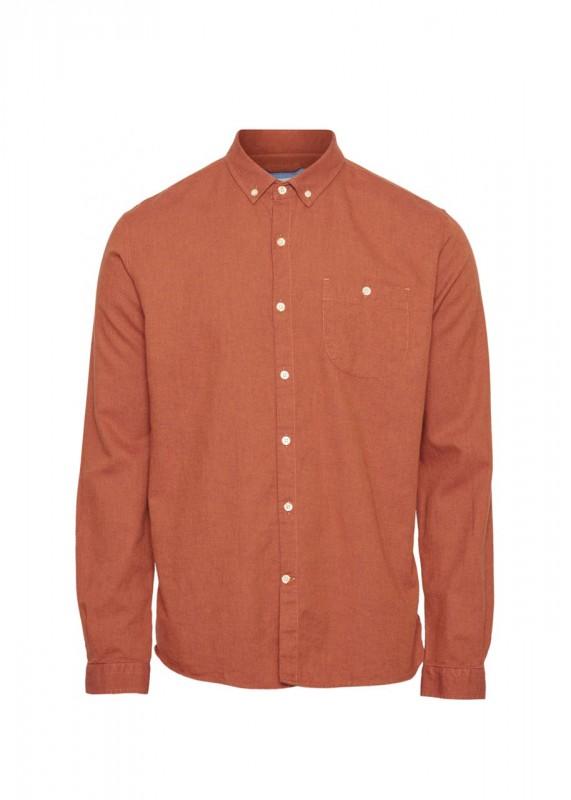 Knowledge Cotton Apparel Flanellhemd orange