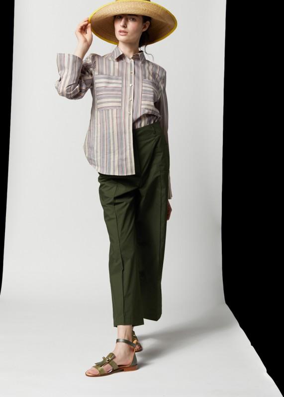 3 - Taschen Hose, grün