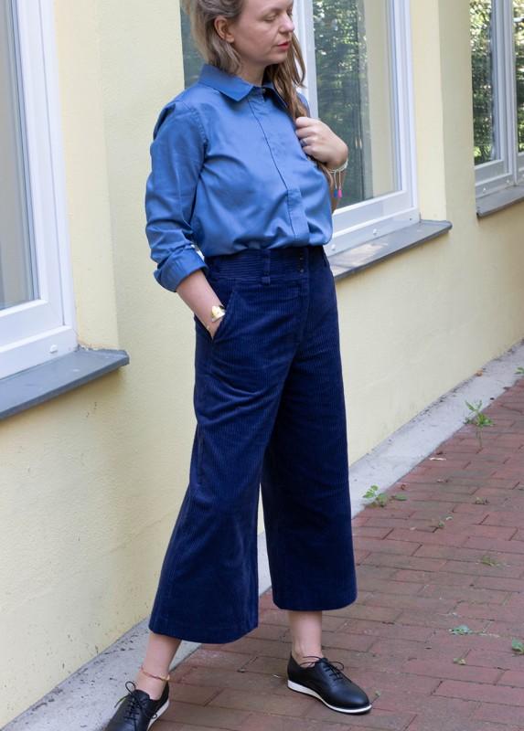 Annette Rufeger Cord Culotte dunkelblau