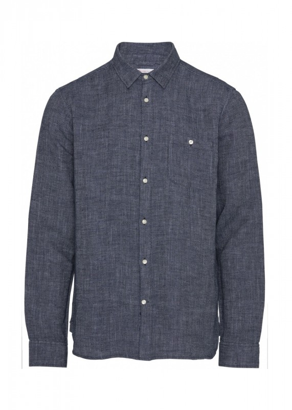 LARCH LS strutured linen shirt - GOTS/Vegan