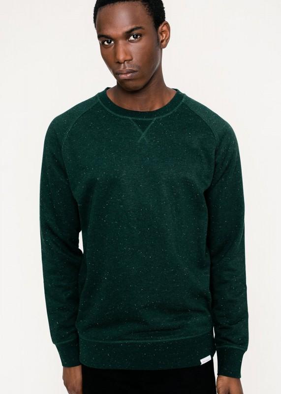 Rotholz Basic Crewneck Sweatshirt grün meliert
