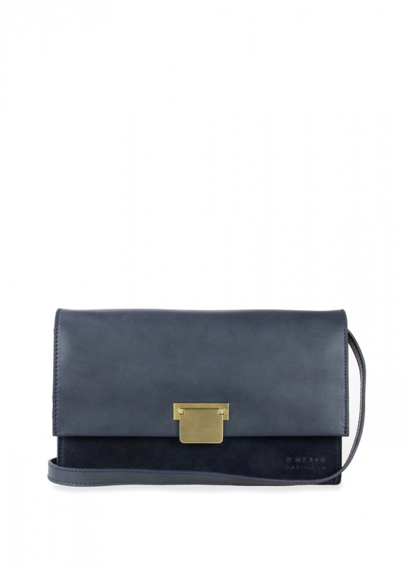 O My Bag Tasche Grace navy classic leather suede
