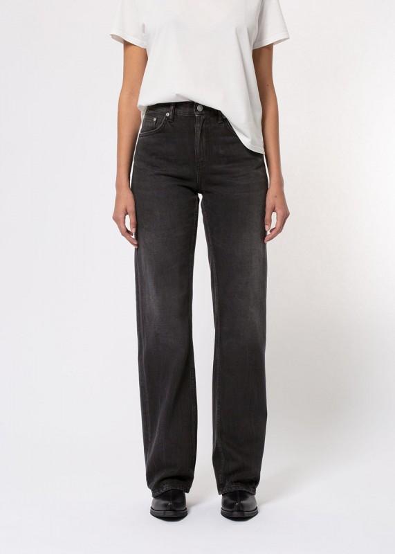 Nudie Jeans - High Waist Jeans Clean Eileen Shimmering Black