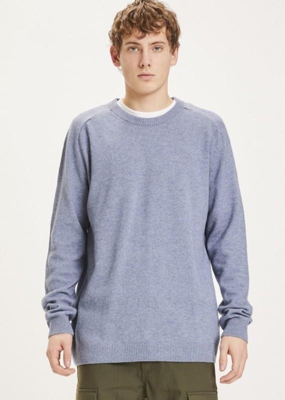 FIELD o-neck knit - Blue Fog