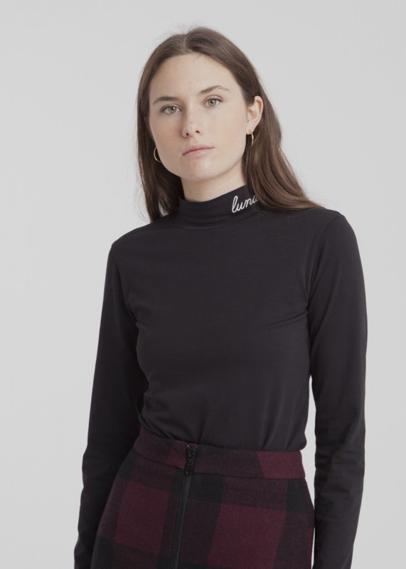 Thinking Mu Lunatic Turtleneck Top schwarz