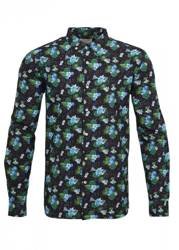 Knowledge Cotton Apparel Hemd floral print