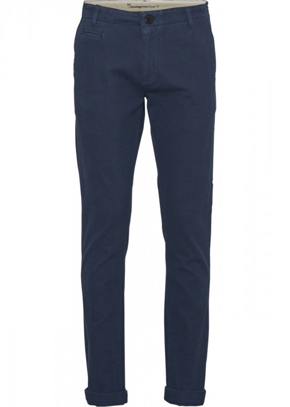 Joe Stretch Chino, Biobaumwolle, blau mit Struktur