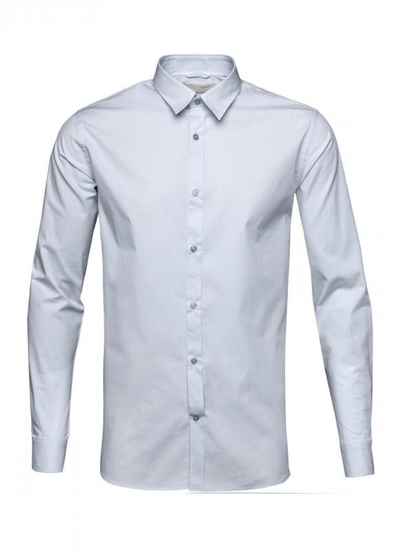 Klassisches Business Hemd mit Stretch, weiß