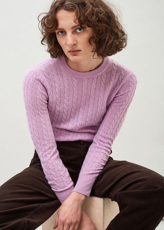 IRIS - Light cashmere wool cable sweater