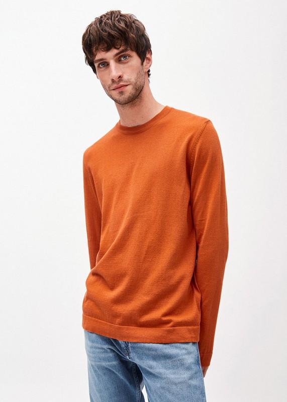Armedangels -Sweatshirt LAADO aus Biobaumwolle,dark orange