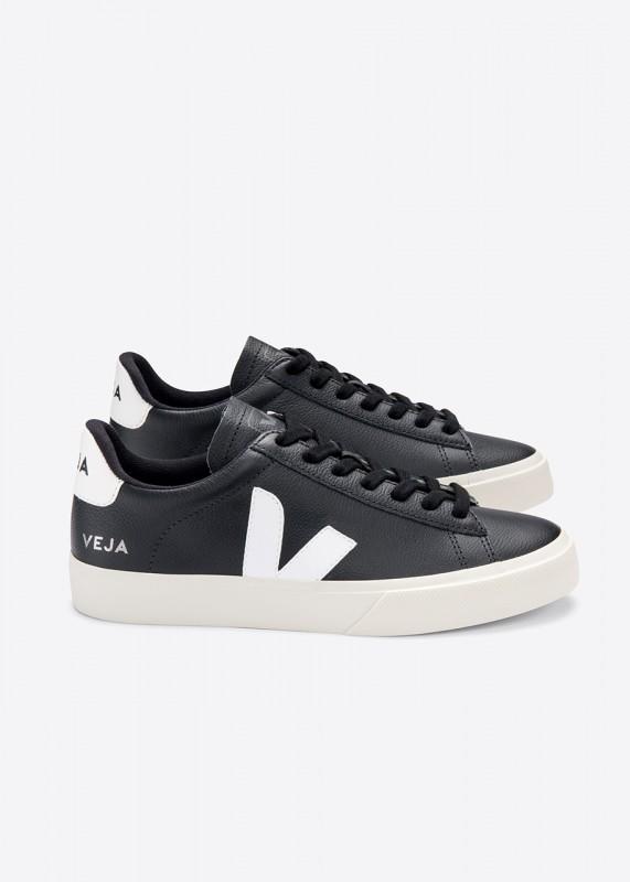 CAMPO chromfreie Ledersneaker, black white