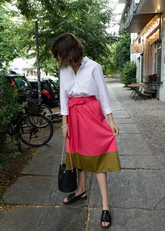 Annette Rufeger Baumwollrock pink khaki