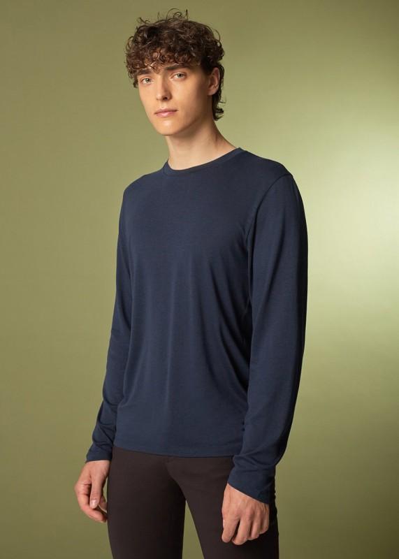 CORE - Langarmshirt aus Tencel, navy