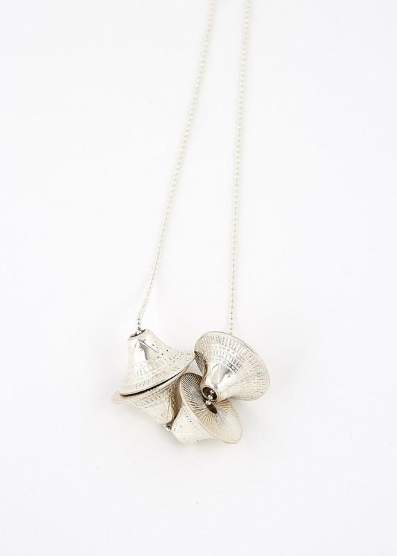 Ombre Claire Silberkette großer Anhänger Handarbeit Touareg
