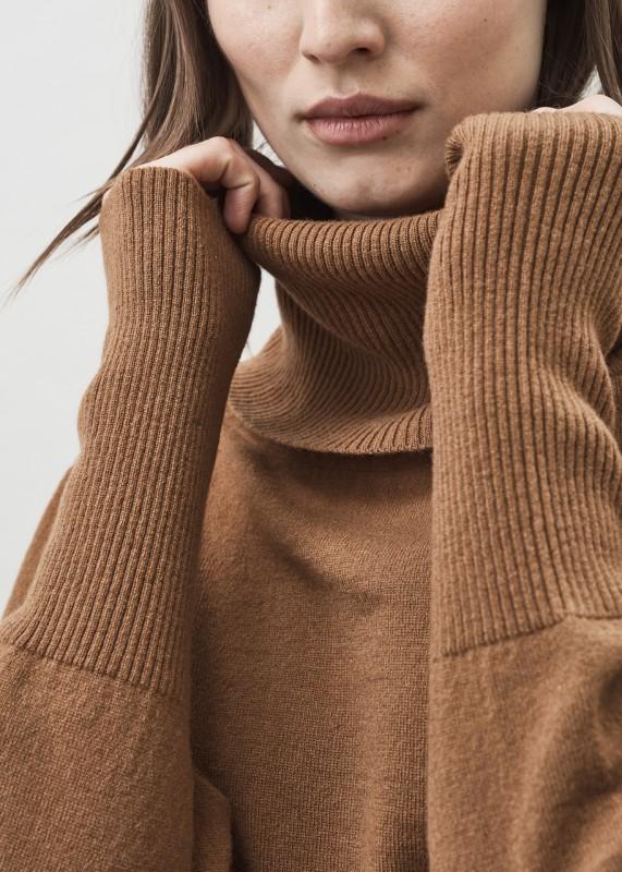 Maska ISA Boxy Shawl Collar Cashmere Wool Sweater