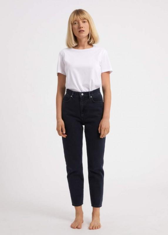 Mom Jeans MAIRAA aus Biobaumwolle, blue black