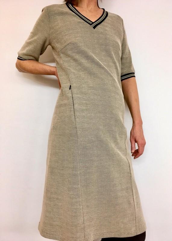 Annette Rufeger Kleid beige-braun