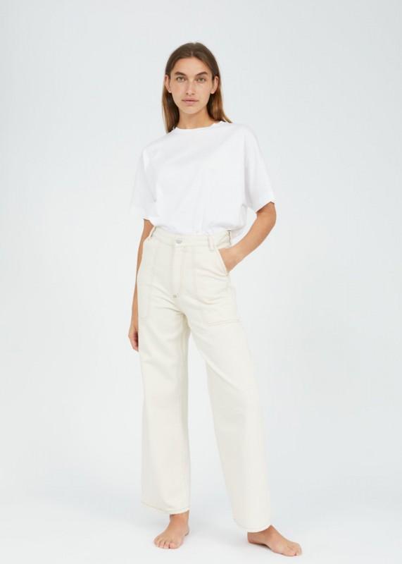 NESSAA WORKER CR Jeans aus Biobaumwolle, high waist fit undyed