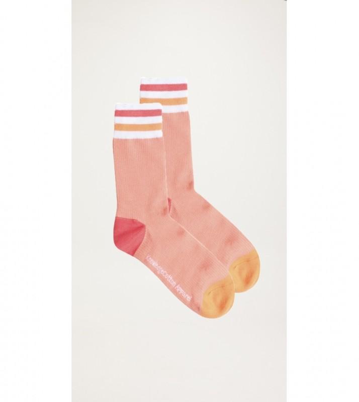 DIANE colorblock rib socks - GOTS/Vegan, shimp