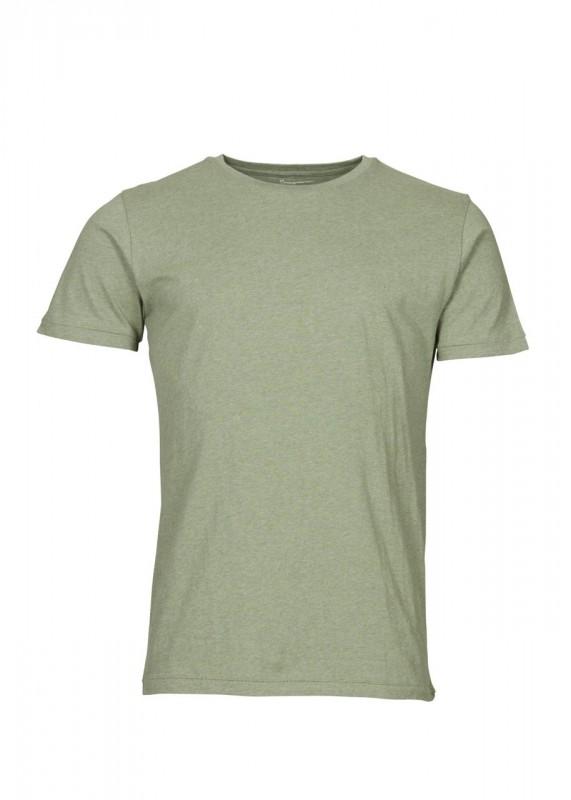 Knowledge Cotton Apparel Basic Shirt gren melange