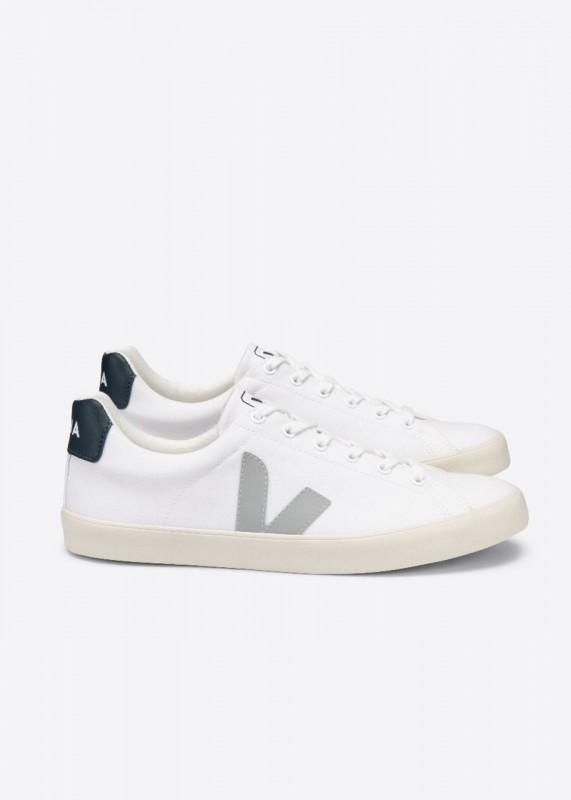 ESPLAR Canvas Sneaker, White Oxford Grey Nautico