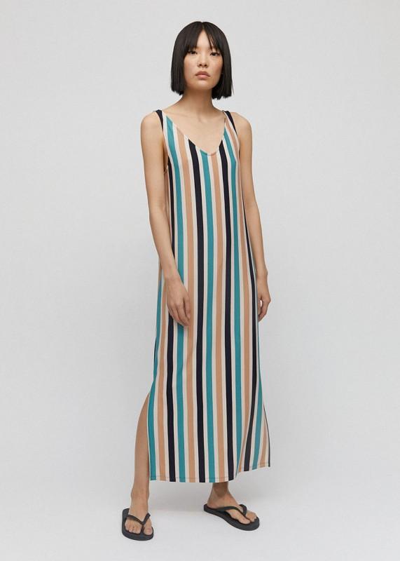Armedangels Kleid Madalenaa multi stripes night sky-kitt