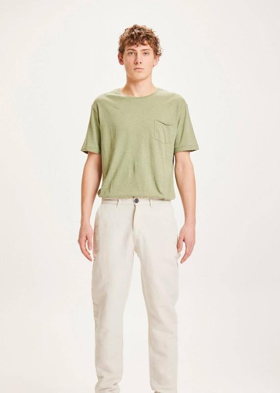 CHUCK light linen pants - light feather gray OCS/vegan