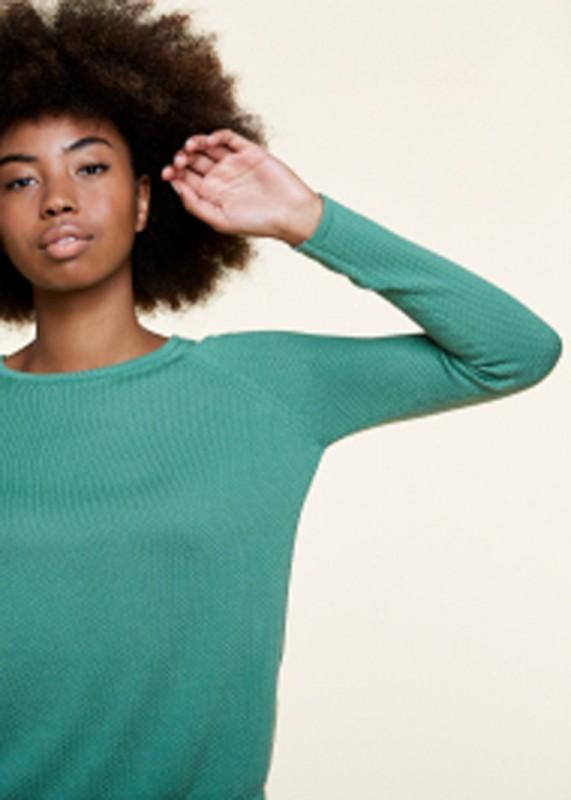 Les Racines du Ciel - Bubble Round Neck Sweater, green