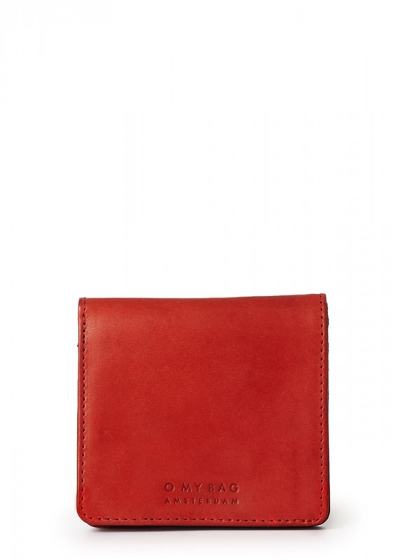 O My Bag Alex Fold-Over red classic leather