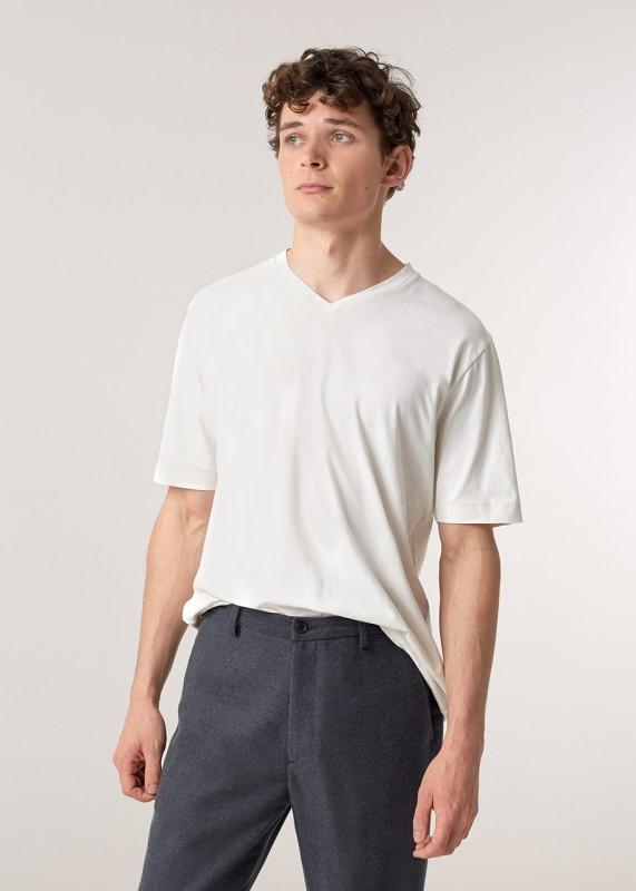 VEE T-Shirt Basic aus Biobaumwolle, weiß
