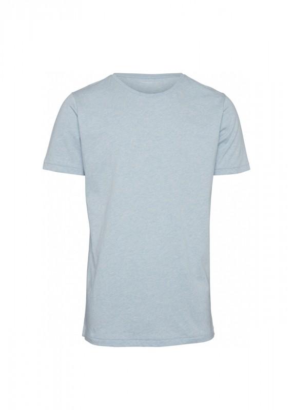 Knowledge Cotton Apparel Basic Shirt sky way melange